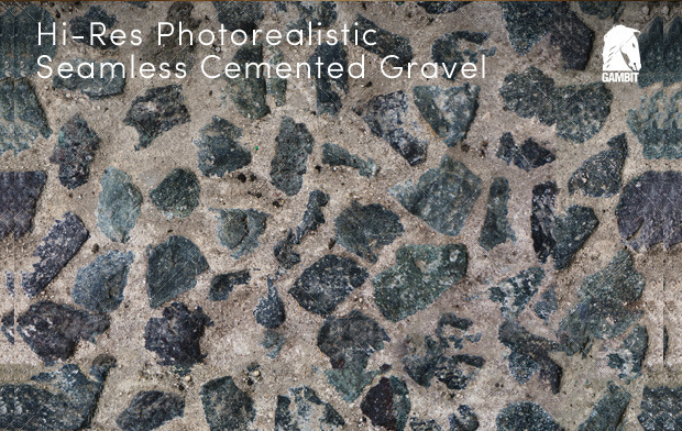 hi res seamless cemented gravel texture