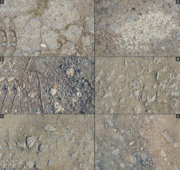18 gravel textures