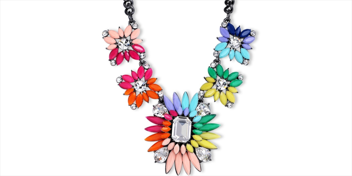 multicolor rainbow flower jewelry