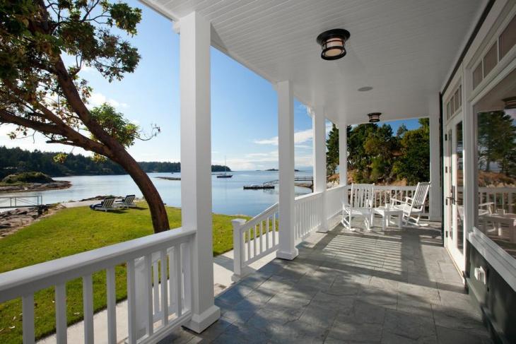 front porch flooring idea