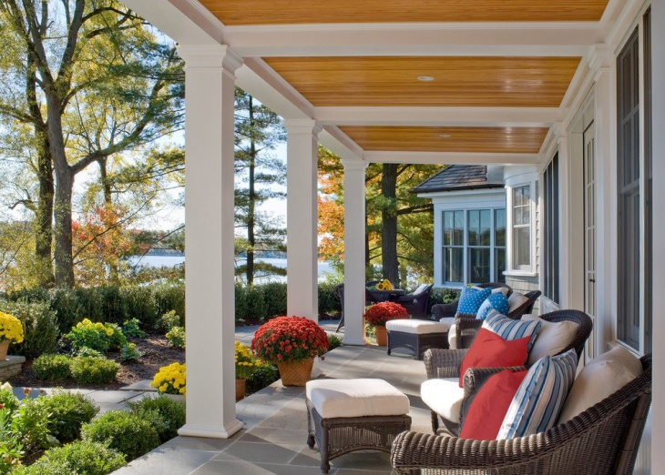 colorful front porch furniture design