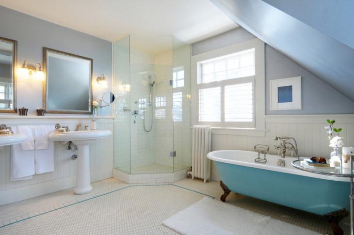 corner clawfoot bathtub
