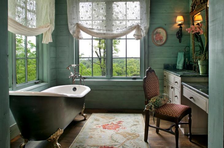 rustic clawfoot bathtub