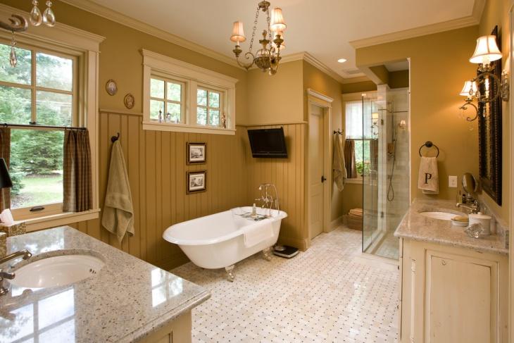 traditional clawfoot bathtub idea