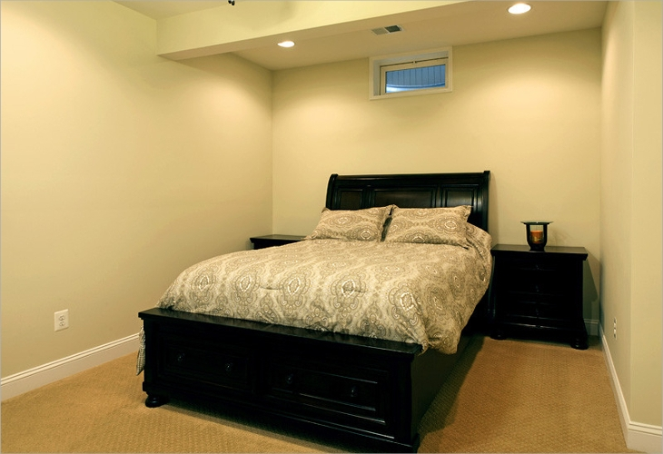 small basement guest room