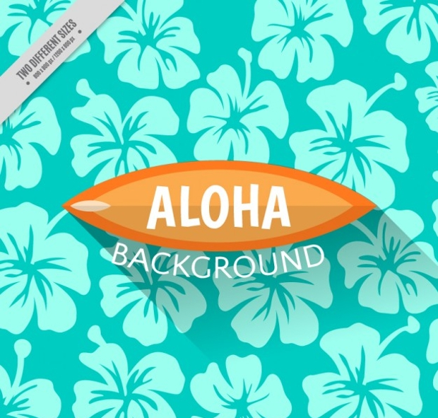 hawaiian flower background