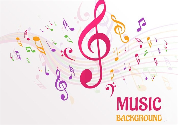 music notes background design
