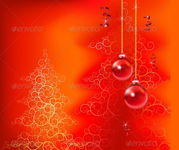 red christmas background design