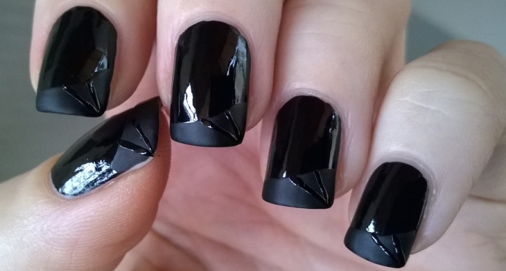 img - 49+ Black Nail Art Designs, Ideas Design Trends - Premium PSD