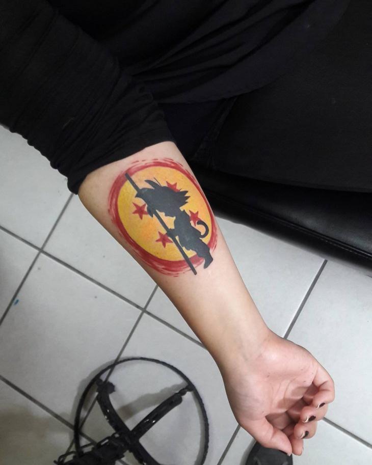 four star dragonball tattoo