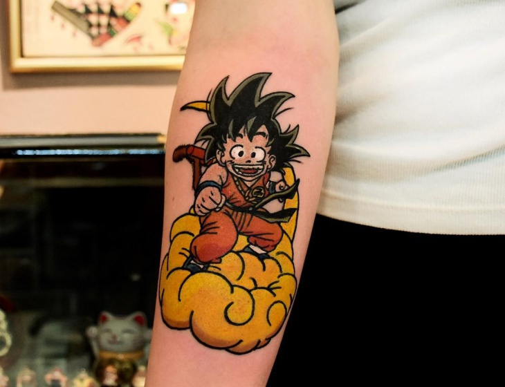 funny dragon ball tattoo design