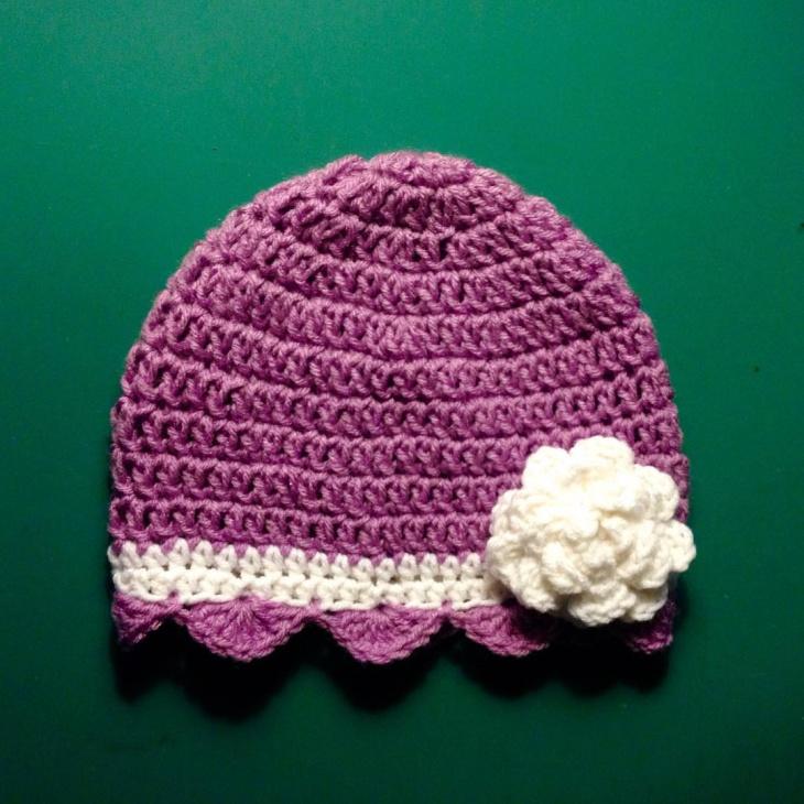 crochet flapper hat design