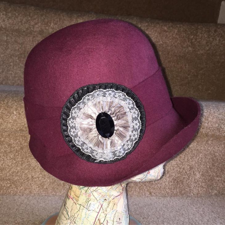 vintage flapper hat