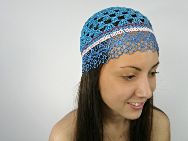 lace flapper hat