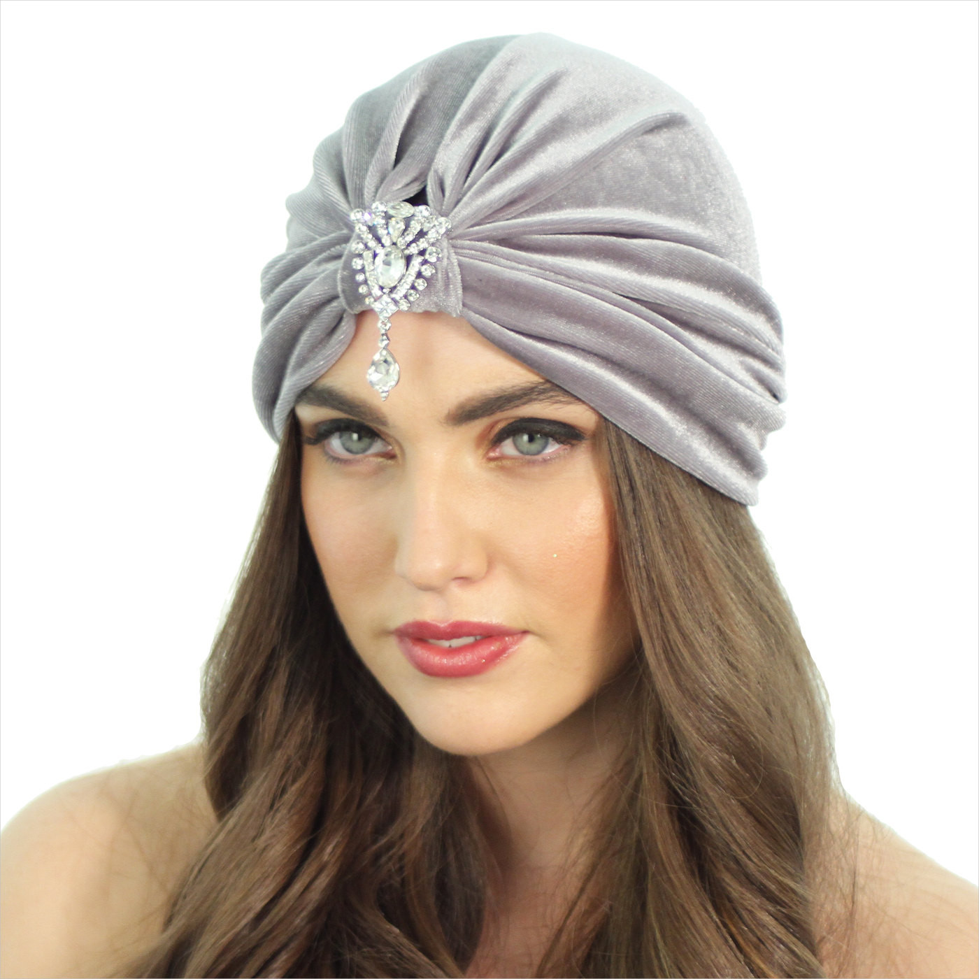 velvet flapper hat