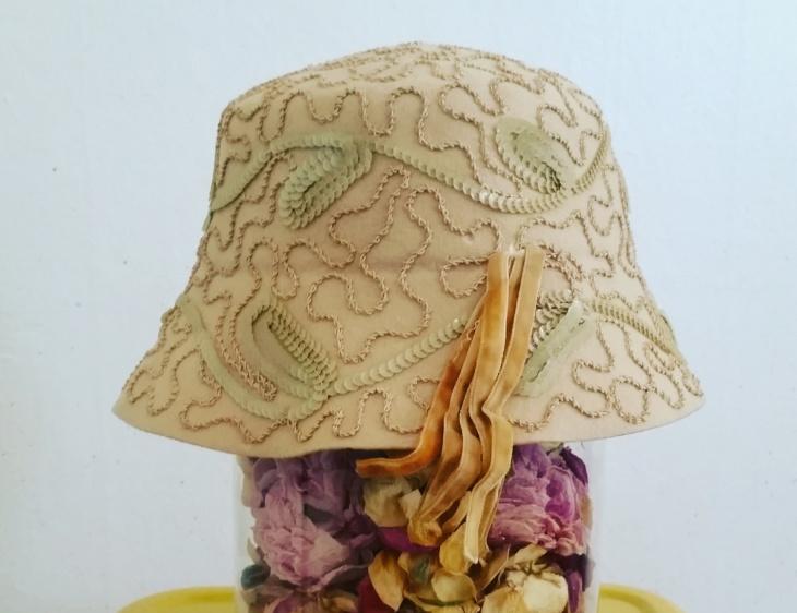 antique flapper hat