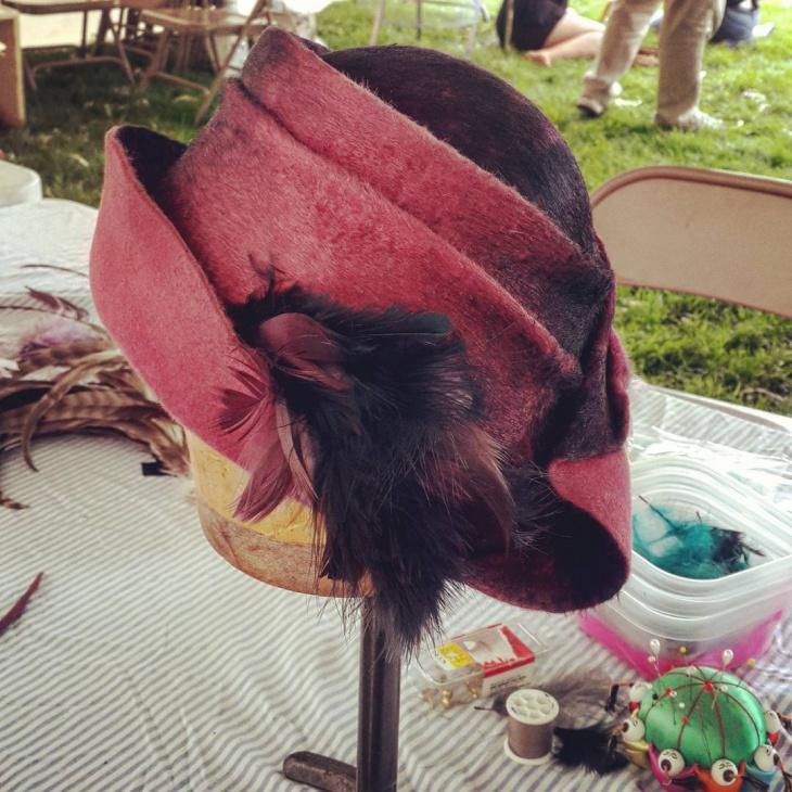 beautiful flapper hat design