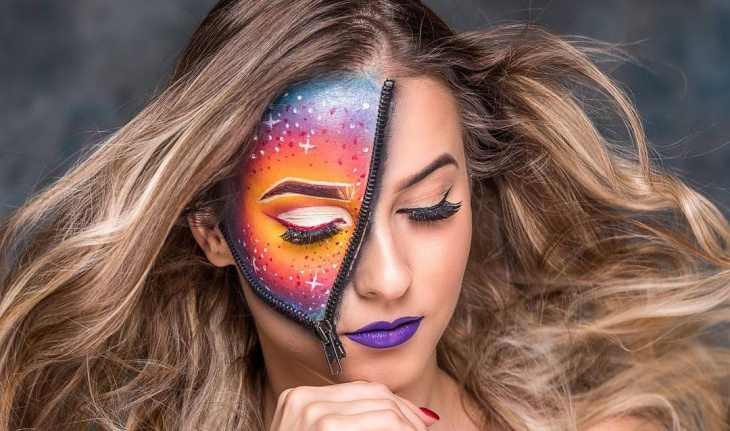 zipper galaxy makeup