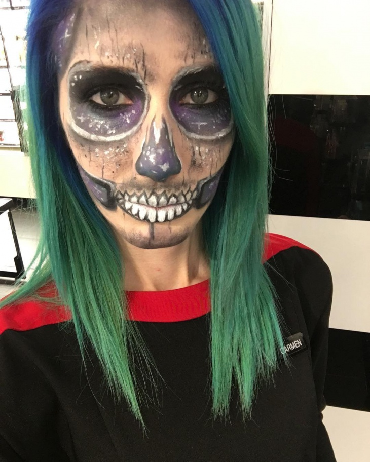 galaxy halloween makeup idea
