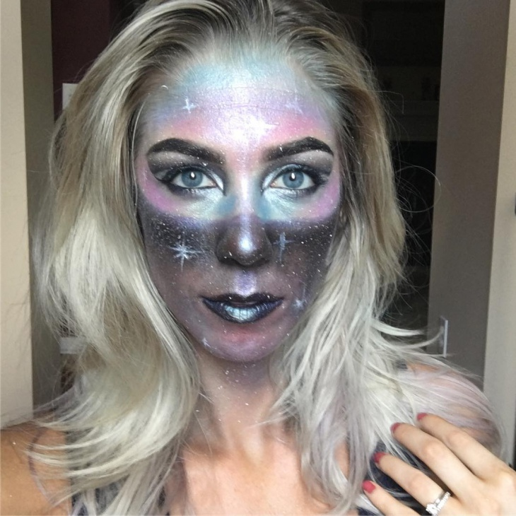 galaxy space makeup design