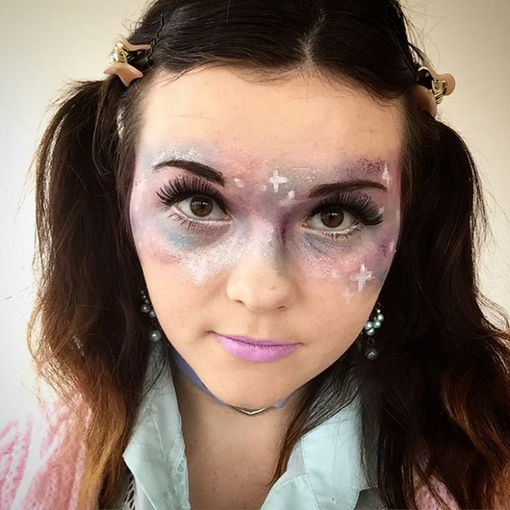 simple galaxy makeup idea