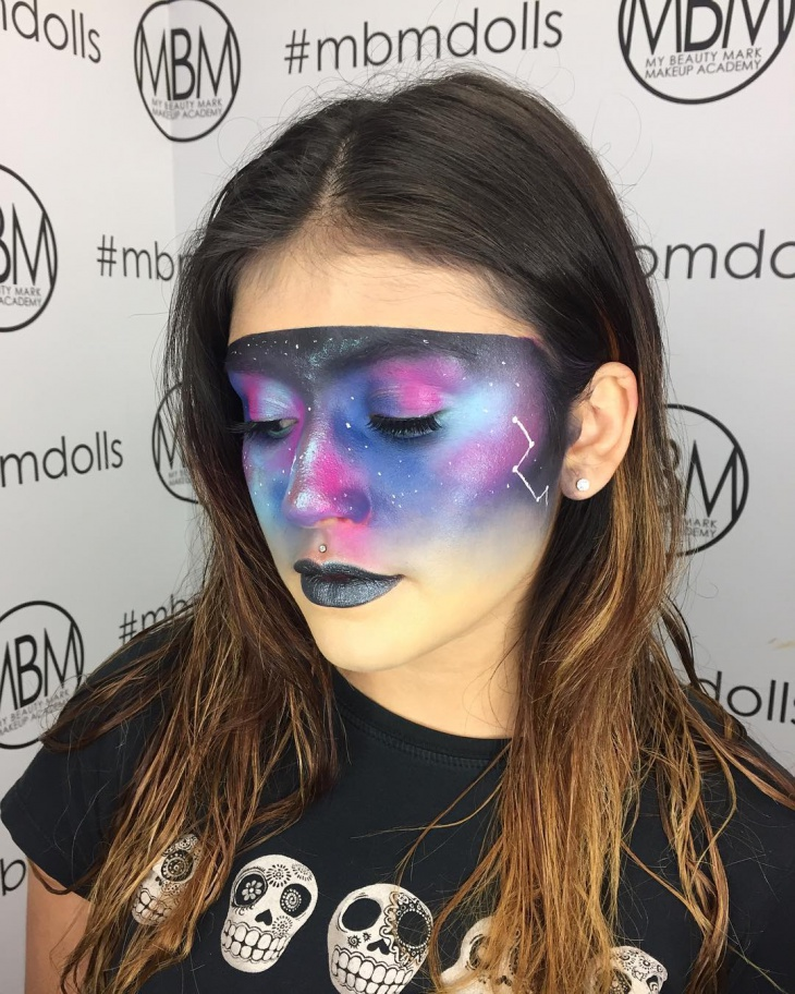 beautiful galaxy makeup design