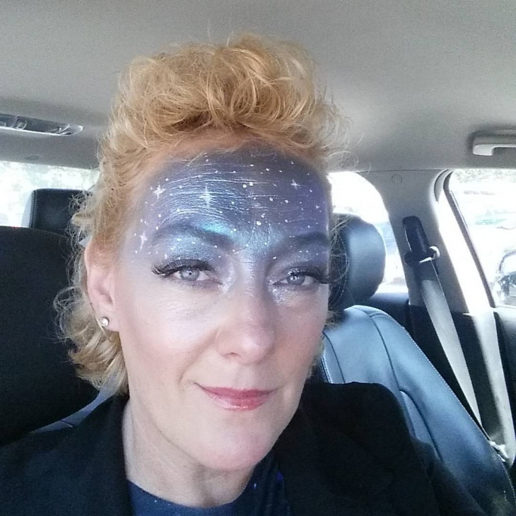 gray galaxy makeup design