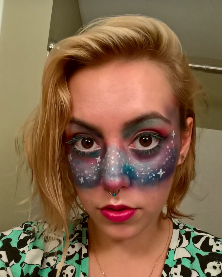 cool galaxy makeup idea