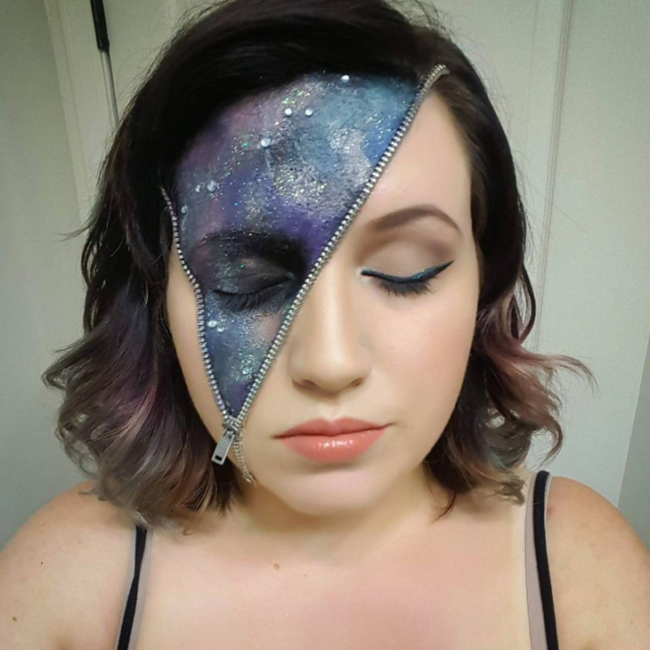 unique galaxy zipper makeup