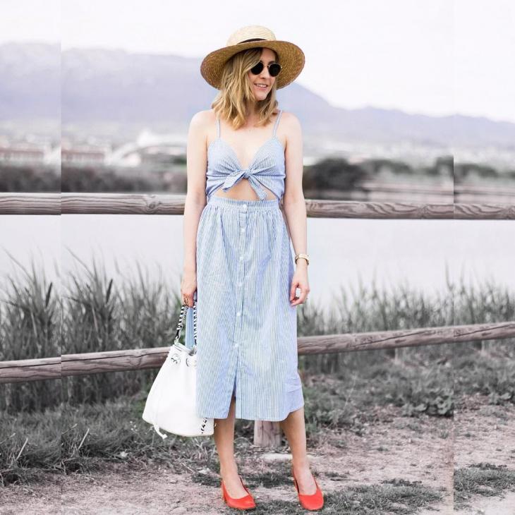 Cut Out Tie Front Dress
