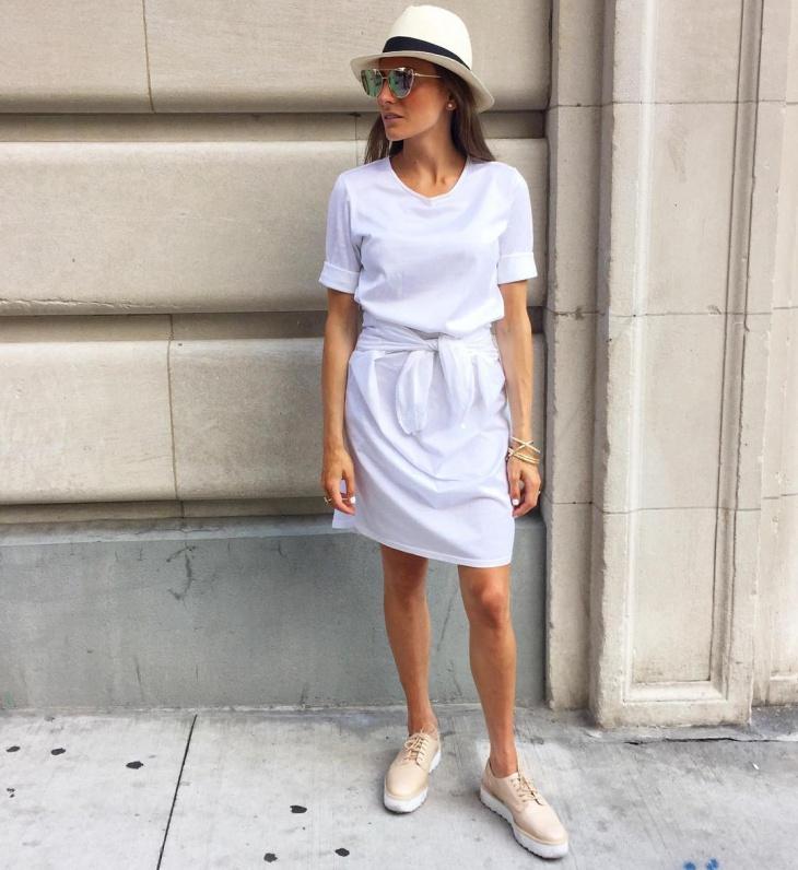 White Tie Front Dress Design