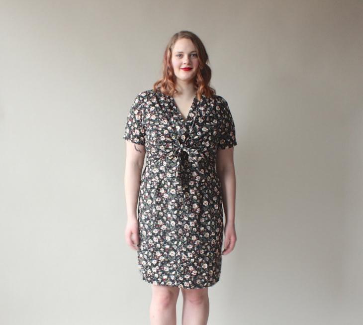 Vintage Tie Front Dress