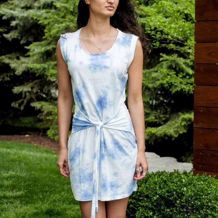 Cute Tie Front Dress Design