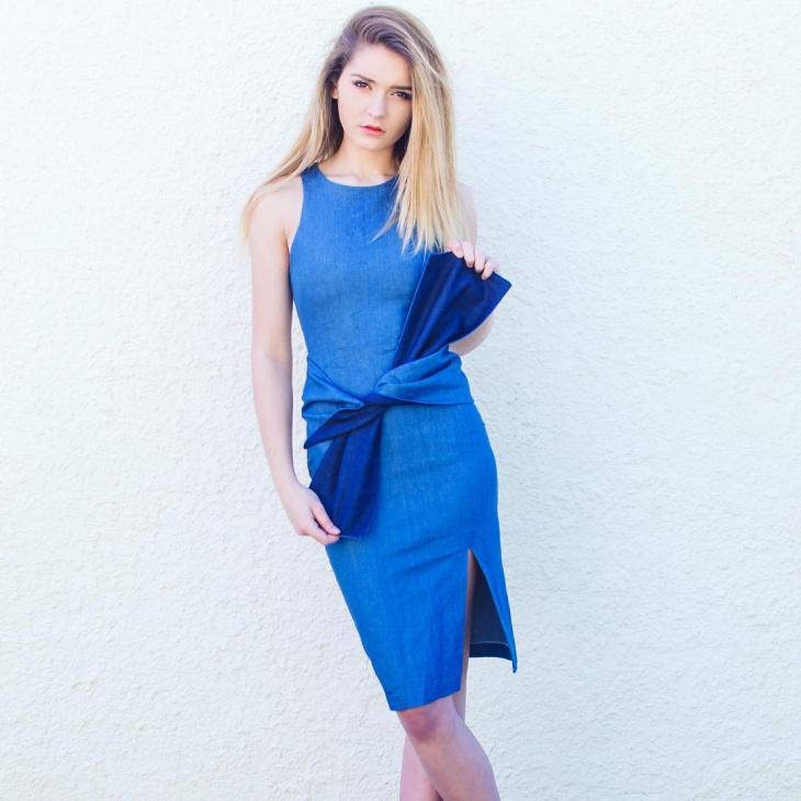 Denim Tie Front Dress