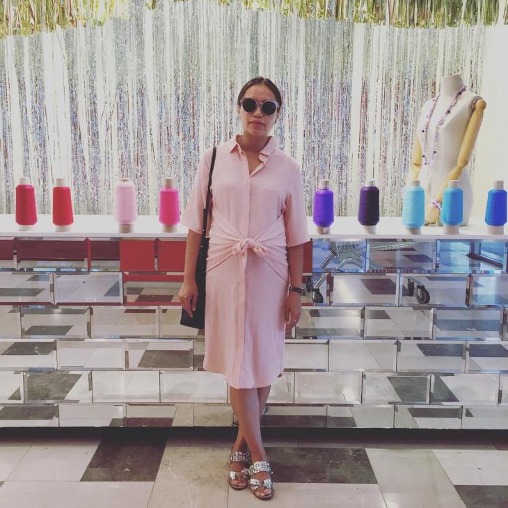 Pink Tie Front Dress Idea