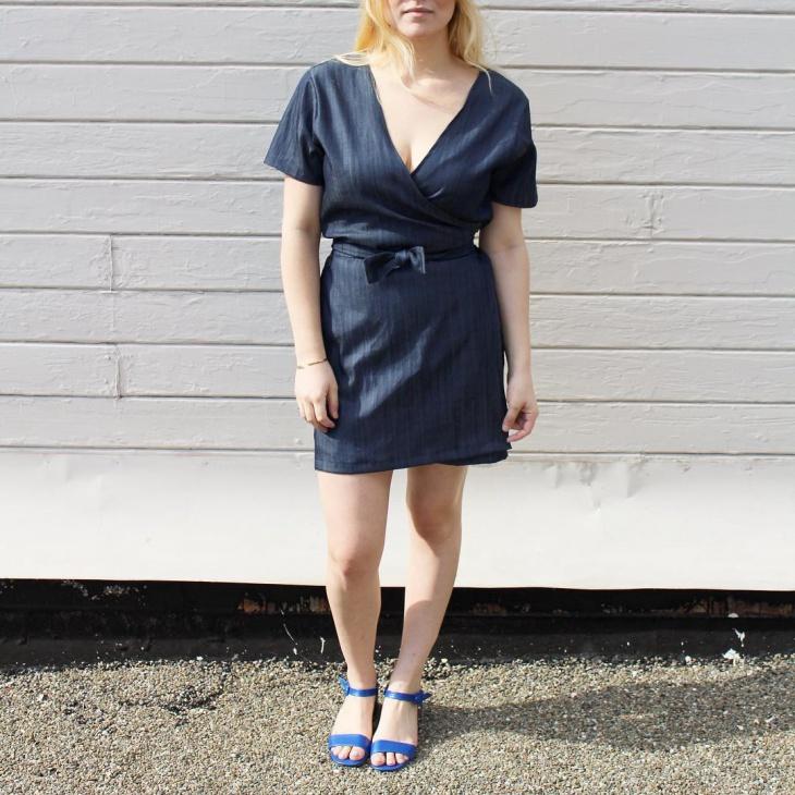 Simple Tie Front Dress