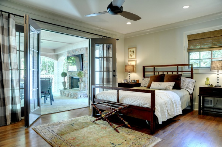 vintage master bedroom for small space