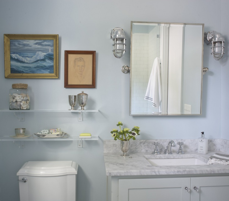 Nautical Themed Guest Bathroom
