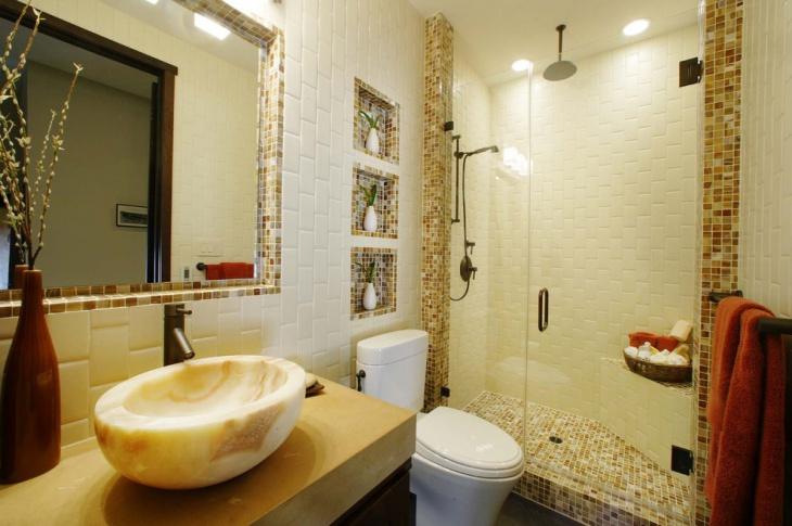 Mosaic Guest Bathroom Design