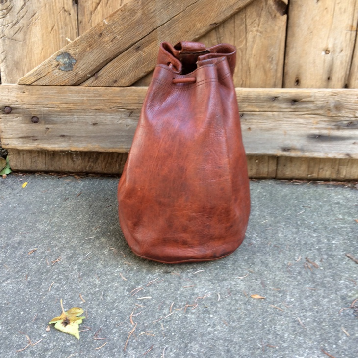 Brown Leather Sling Backpack