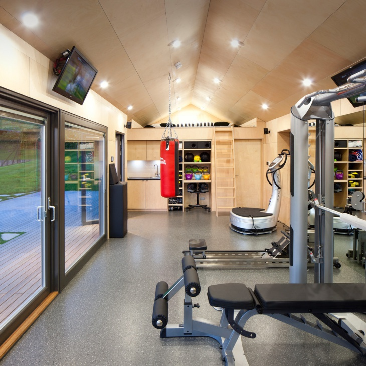 16 garage gym designs ideas design trends premium for Home gym interior design