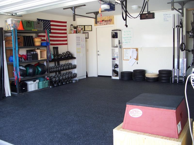 farmhouse garage gym