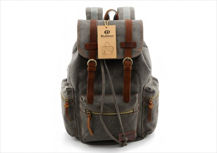 simple vintage backpack