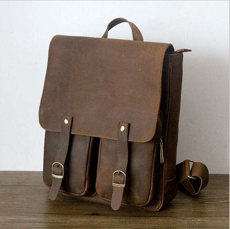 Genuine Leather Vintage Backpack