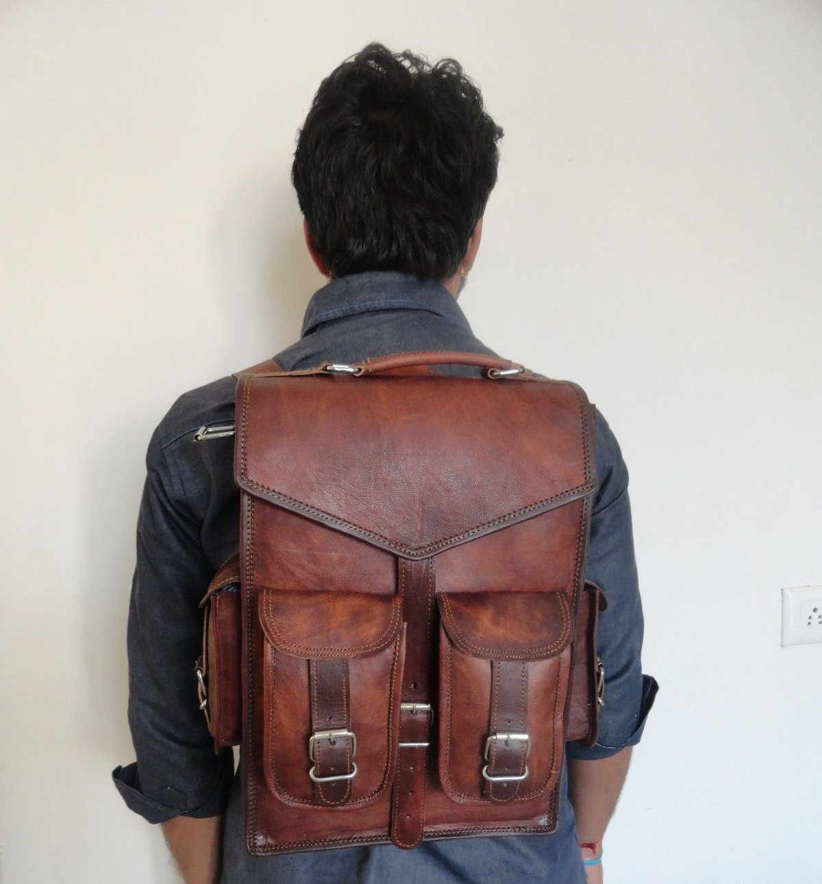mens vintage backpack idea