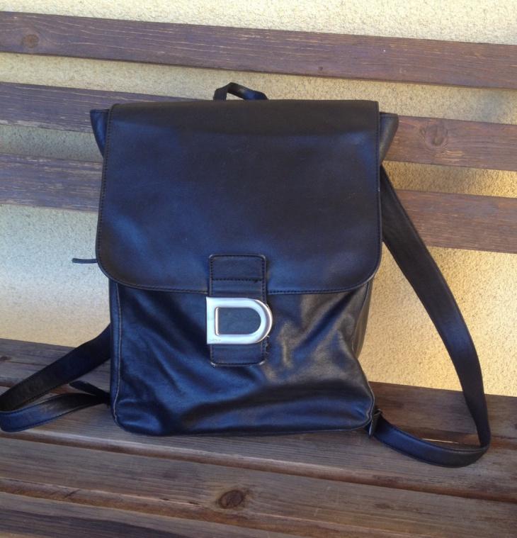 black vintage backpack