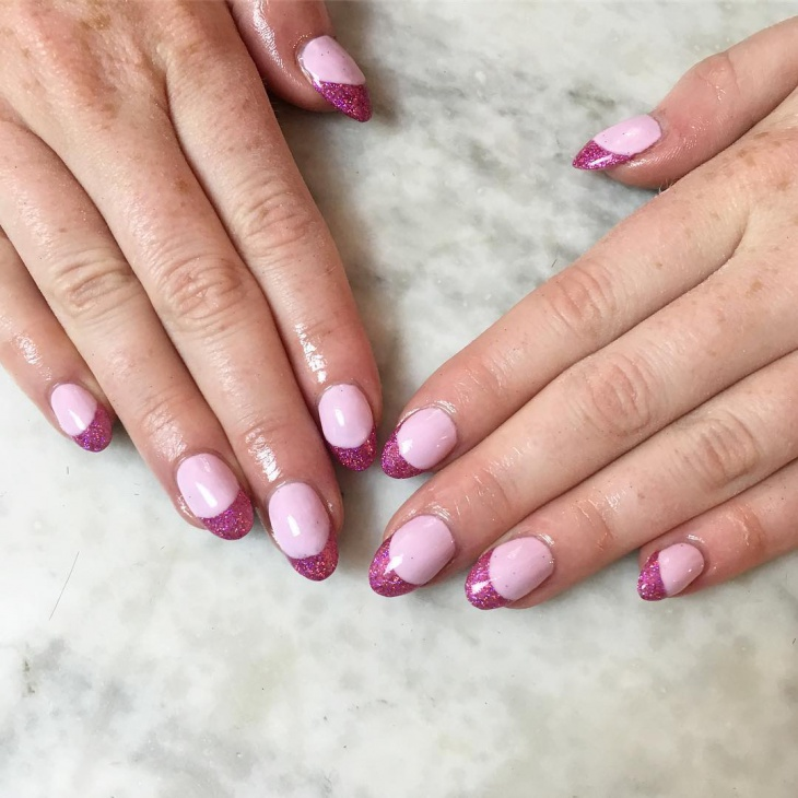 Simple Pink Nails Manicure