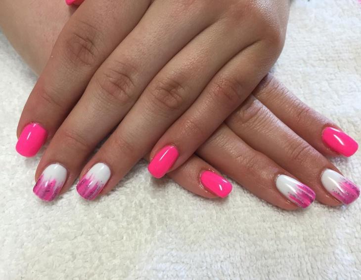 unique pink nail art