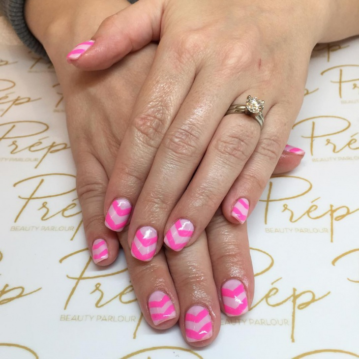 Classy Pink Nail Design