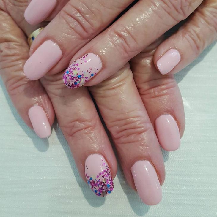 cool pink nail art idea